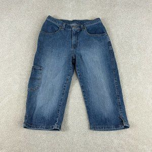 Riveted By Lee Capri Jeans 18M Blue Distressed